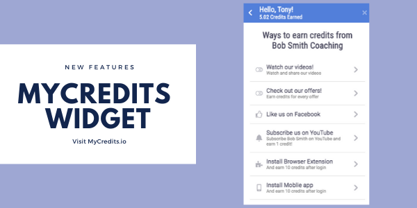 how to install the mycredits widget